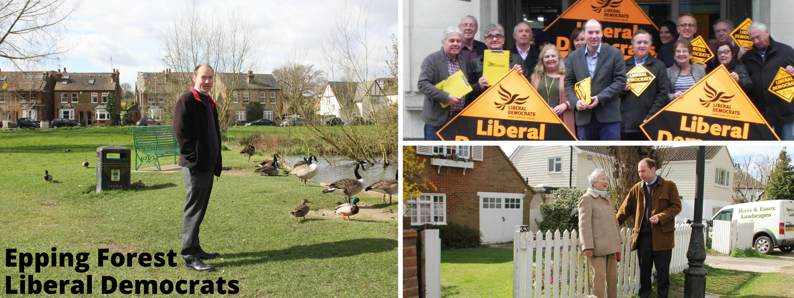 Epping Forest Lib Dem header image featuring Jon Whitehouse